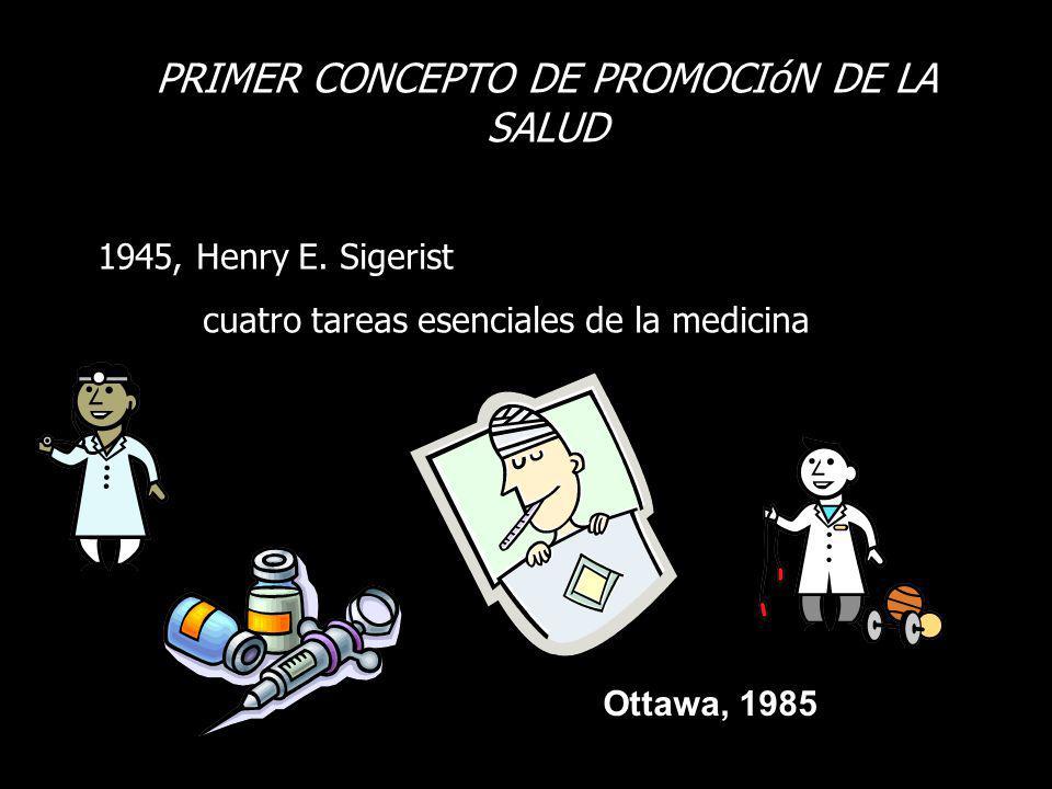 PRIMER CONCEPTO DE PROMOCIóN DE LA SALUD