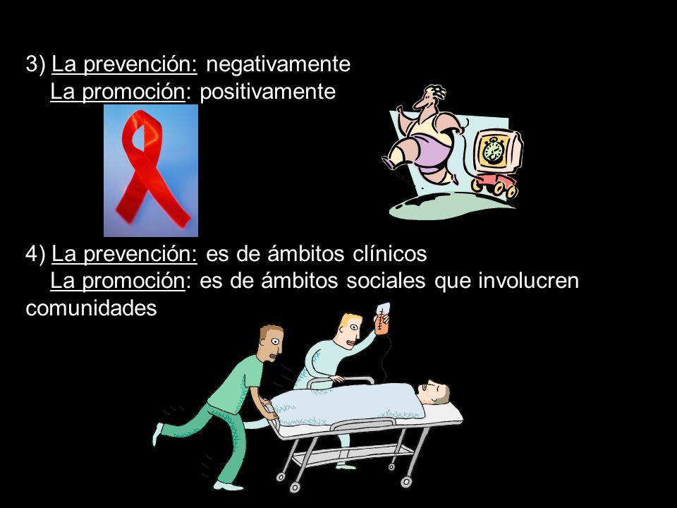 3) La prevención: negativamente