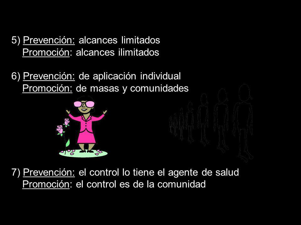 5) Prevención: alcances limitados