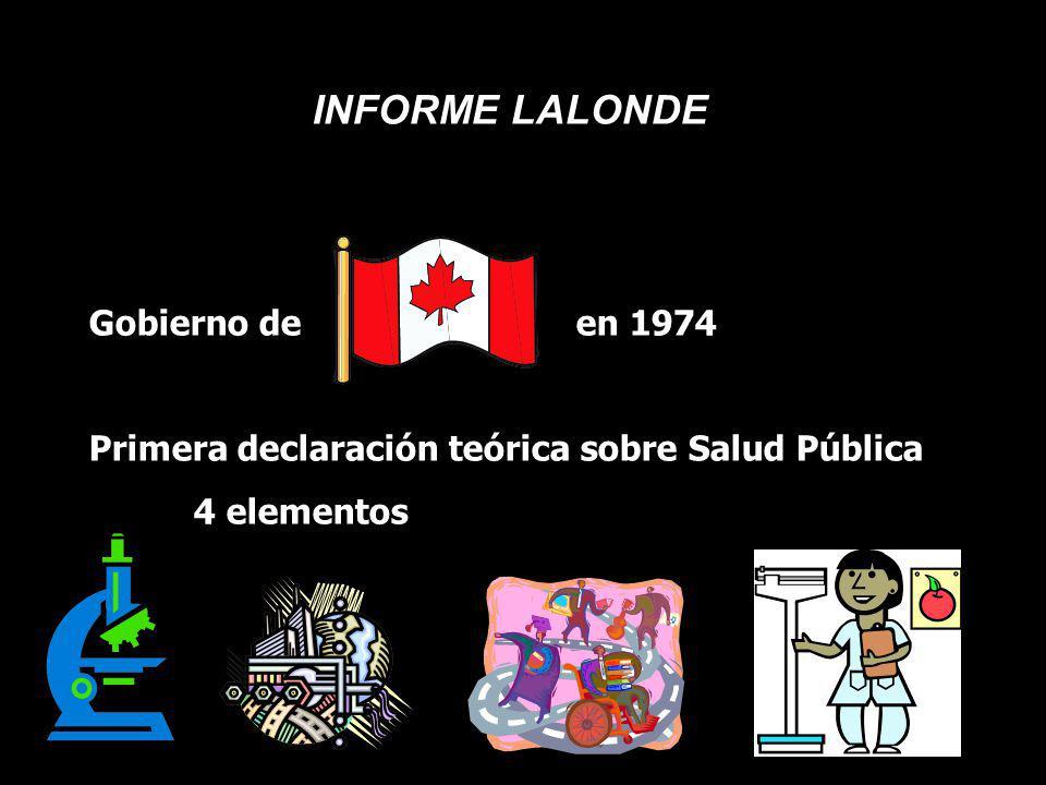 INFORME LALONDE Gobierno de en 1974
