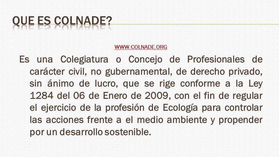 QUE ES COLNADE WWW.COLNADE.ORG.