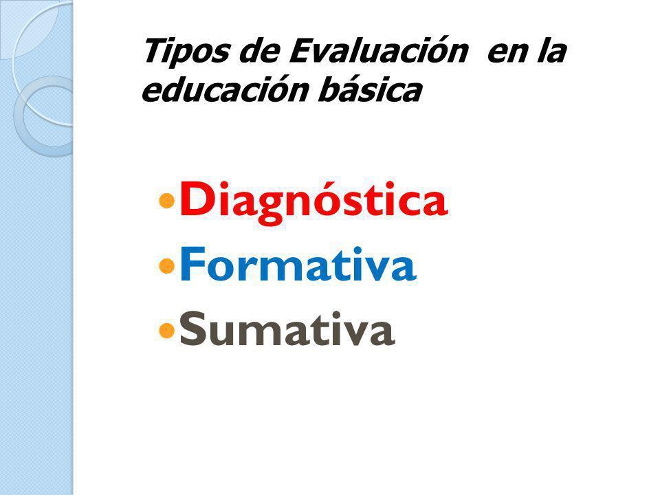 Diagnóstica Formativa Sumativa