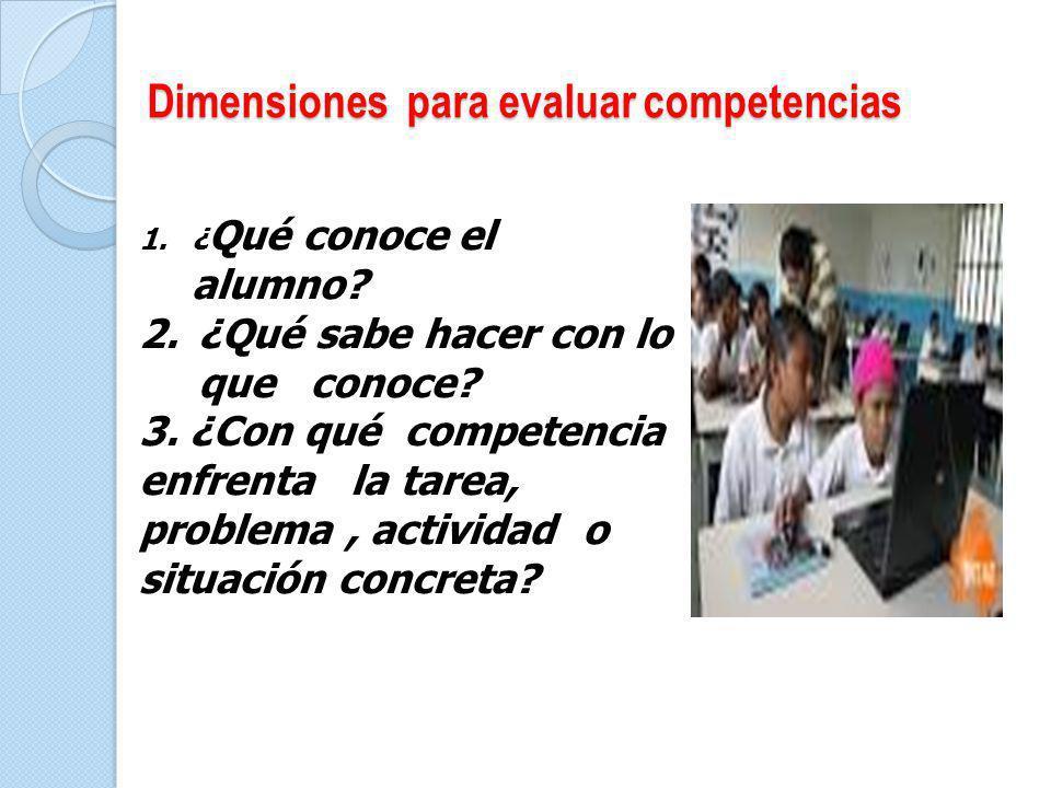 Dimensiones para evaluar competencias