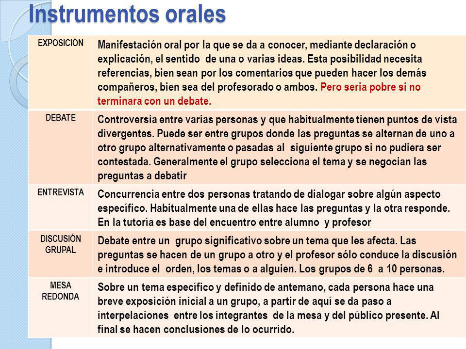Instrumentos orales exposición.