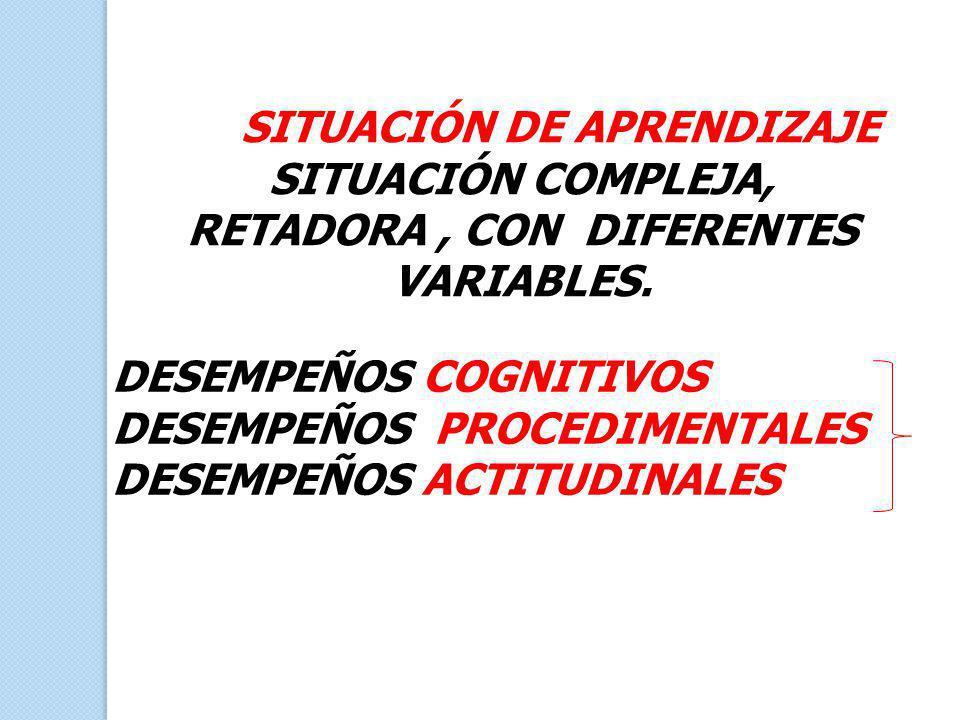 SITUACIÓN COMPLEJA, RETADORA , CON DIFERENTES VARIABLES.