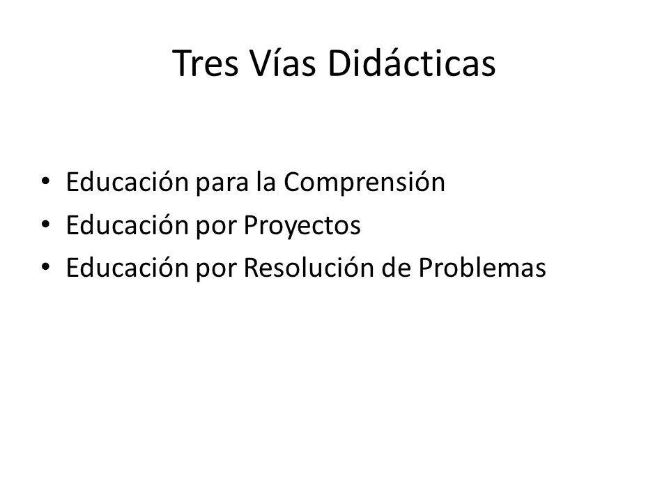 Tres Vías Didácticas Educación para la Comprensión