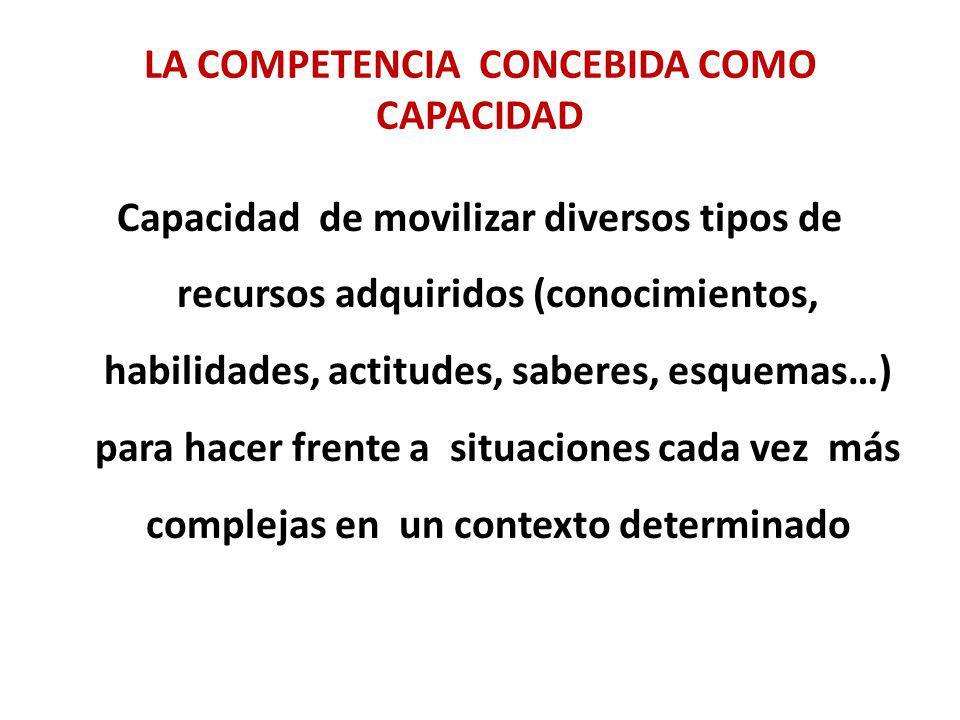 La competencia concebida como capacidad