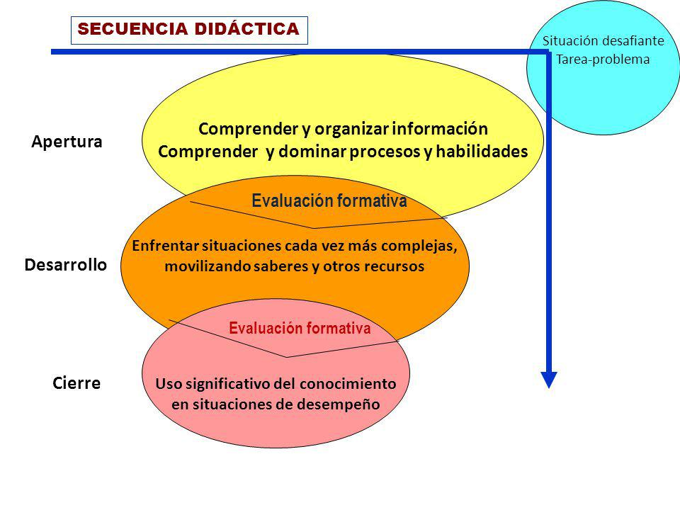 Comprender y organizar información