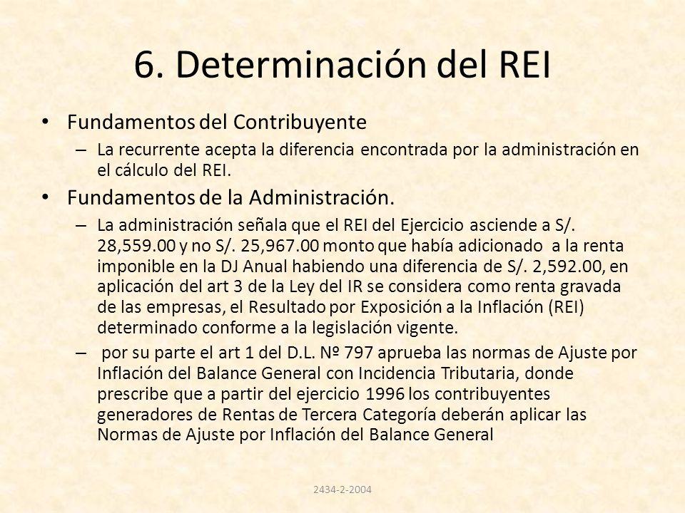 6. Determinación del REI Fundamentos del Contribuyente