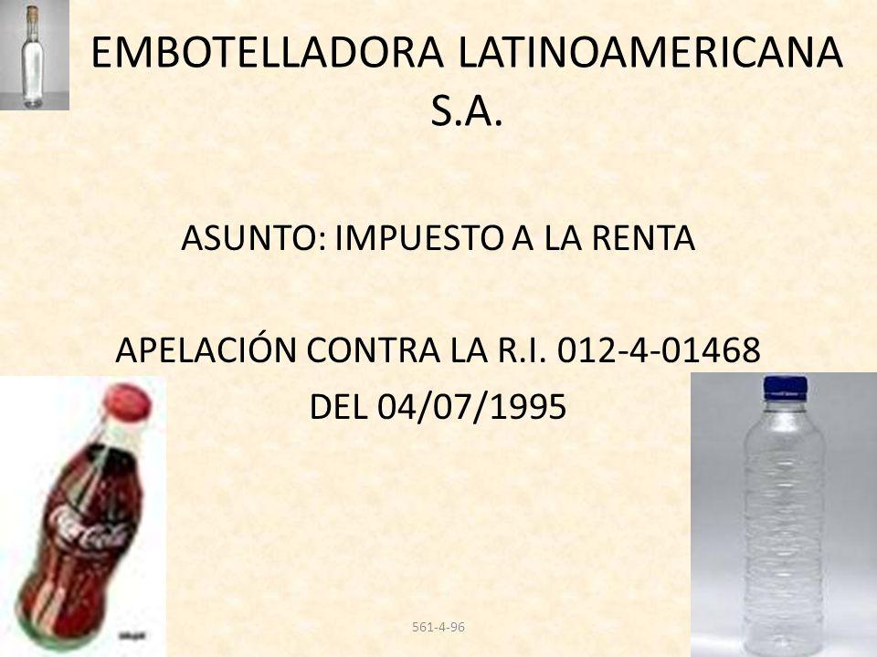 EMBOTELLADORA LATINOAMERICANA S.A.
