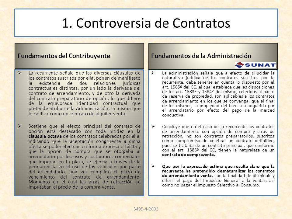 1. Controversia de Contratos