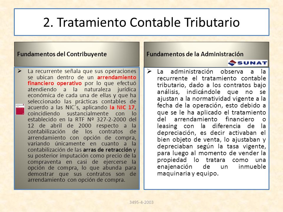 2. Tratamiento Contable Tributario
