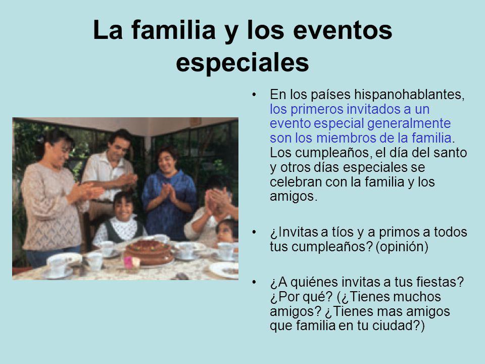 La familia y los eventos especiales