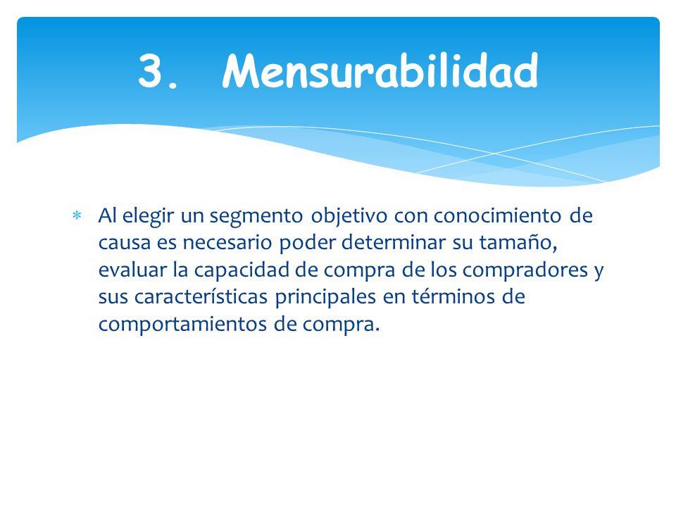 3. Mensurabilidad