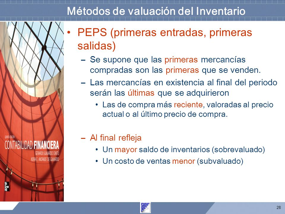 Métodos de valuación del Inventario