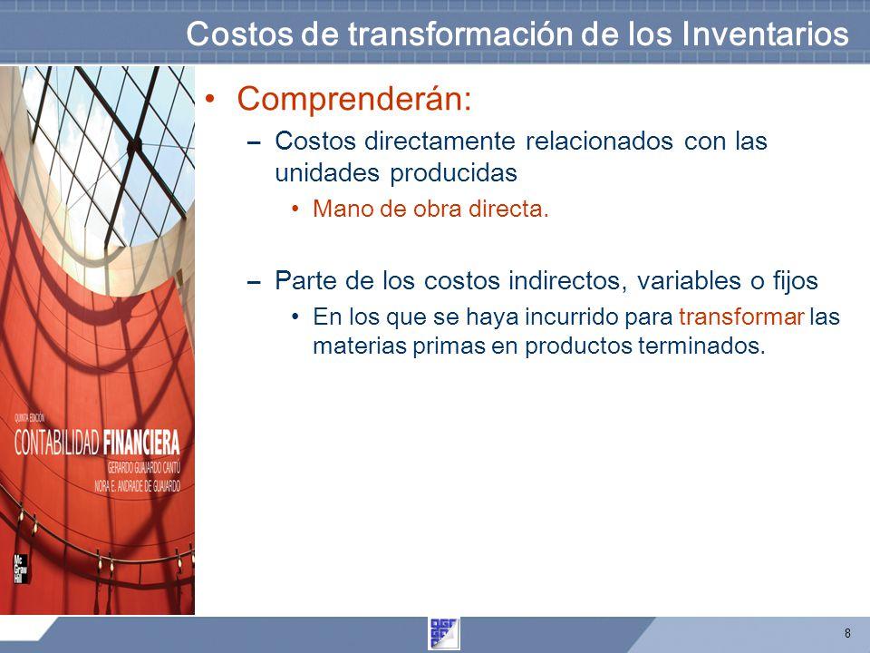 Costos de transformación de los Inventarios