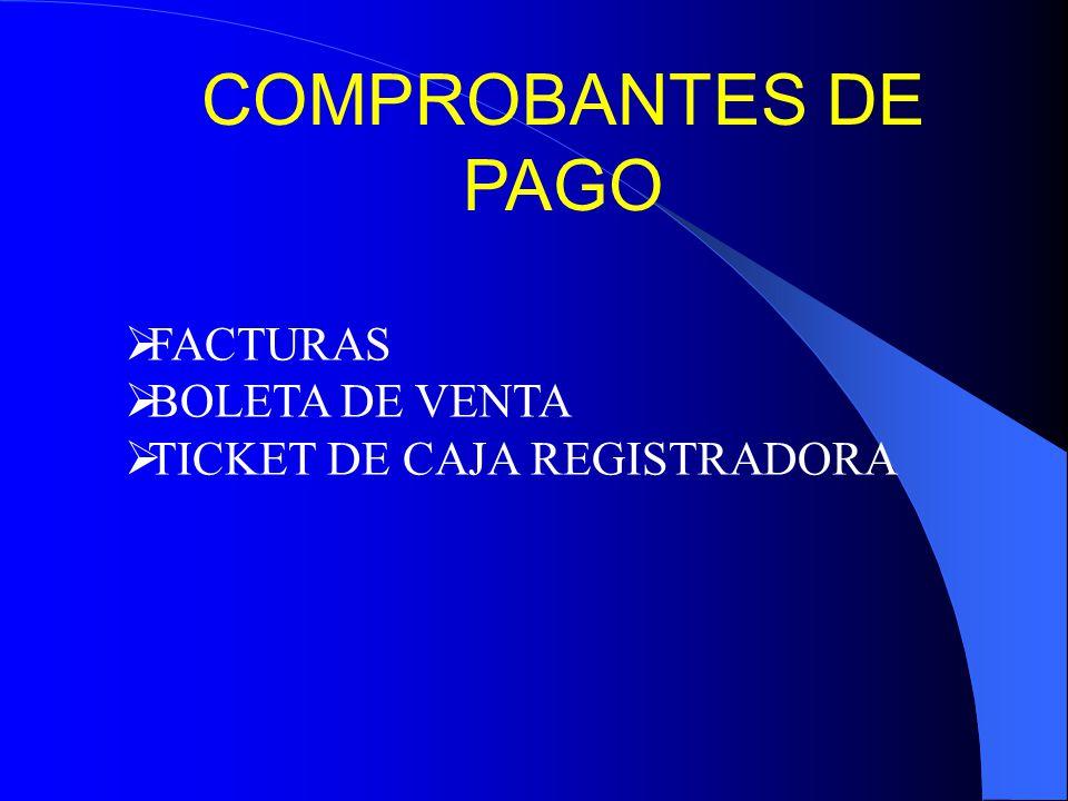 COMPROBANTES DE PAGO FACTURAS BOLETA DE VENTA