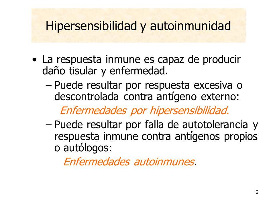 Hipersensibilidad y autoinmunidad