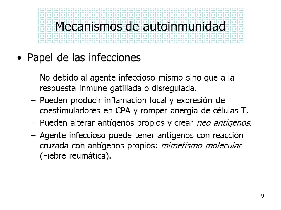 Mecanismos de autoinmunidad
