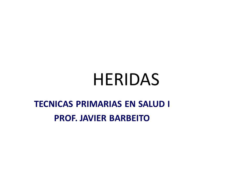 TECNICAS PRIMARIAS EN SALUD I PROF. JAVIER BARBEITO