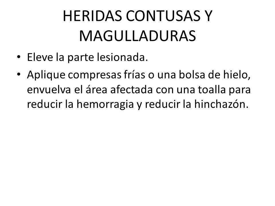 HERIDAS CONTUSAS Y MAGULLADURAS