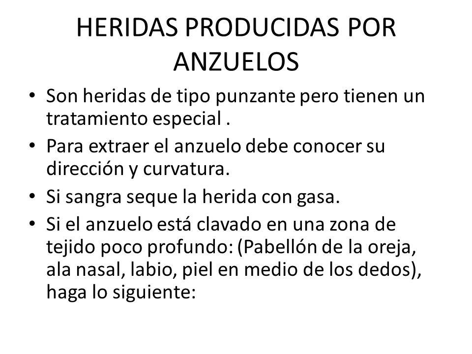 HERIDAS PRODUCIDAS POR ANZUELOS