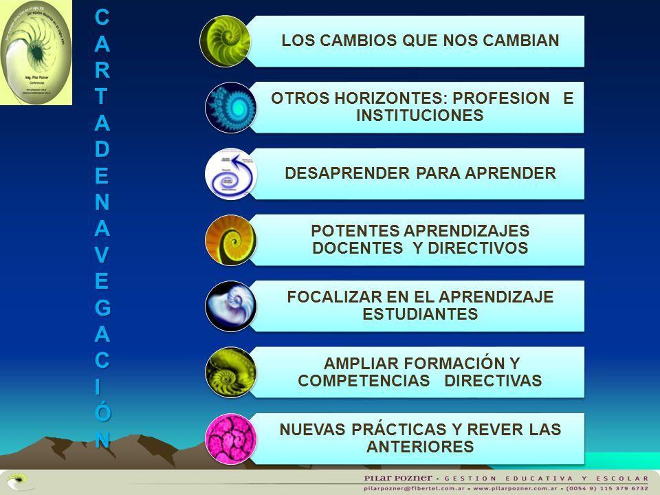 CARTA DE NAVEGAC IÓN LOS CAMBIOS QUE NOS CAMBIAN