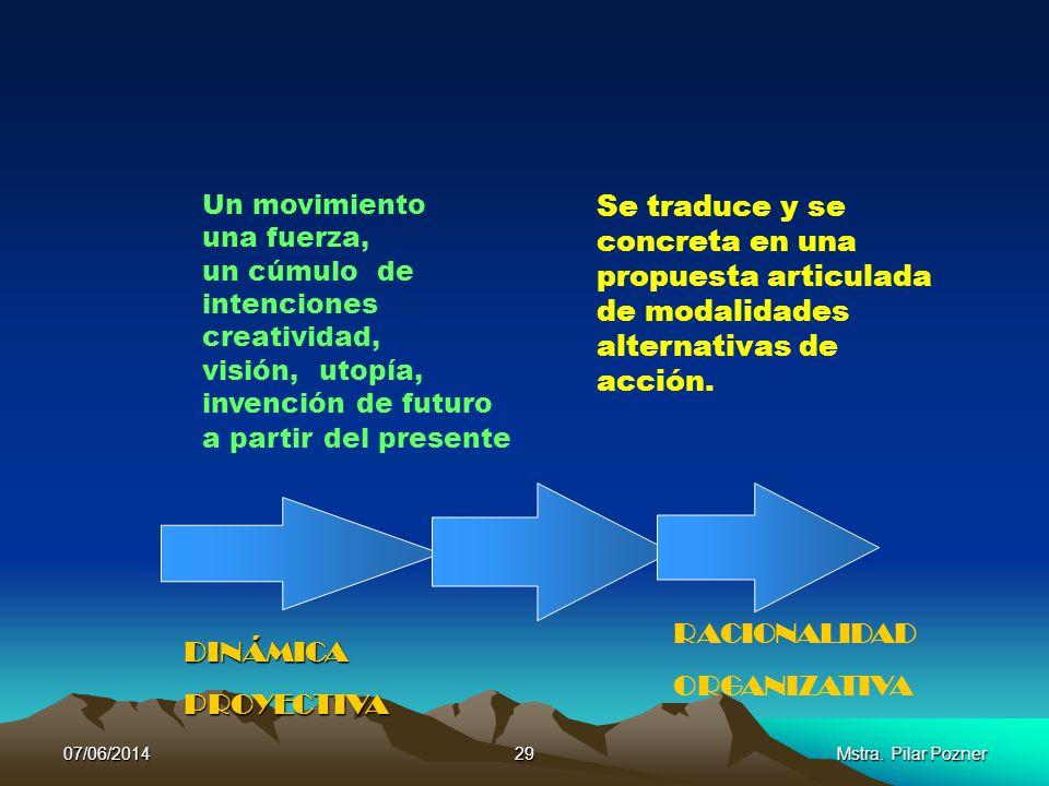Un movimiento una fuerza, un cúmulo de intenciones creatividad, visión, utopía, invención de futuro a partir del presente