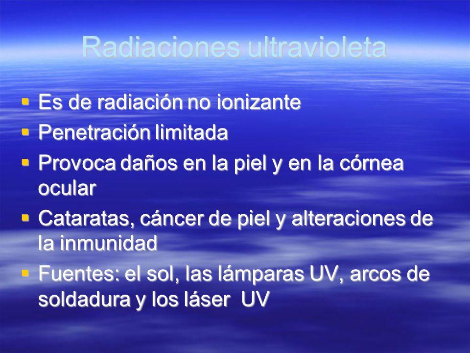 Radiaciones ultravioleta