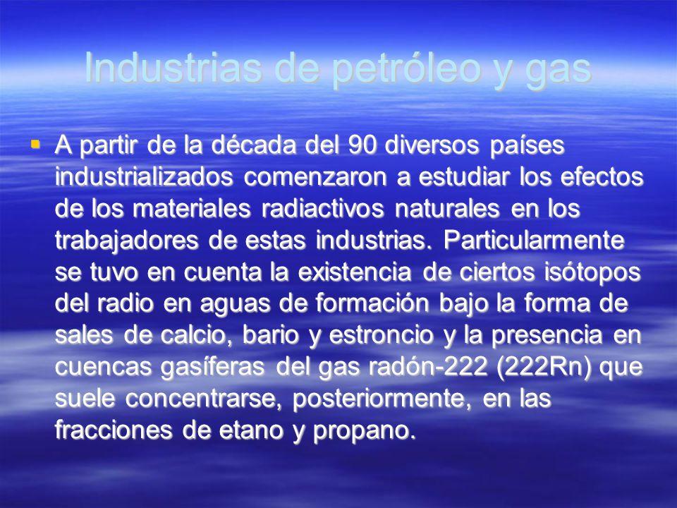 Industrias de petróleo y gas