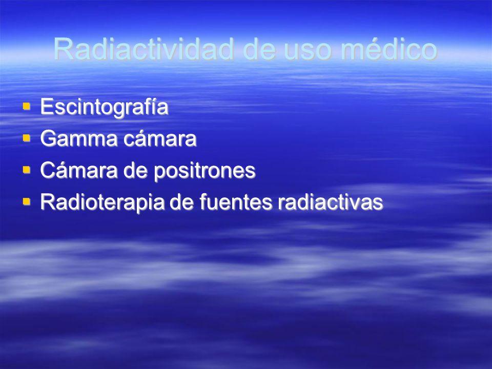 Radiactividad de uso médico