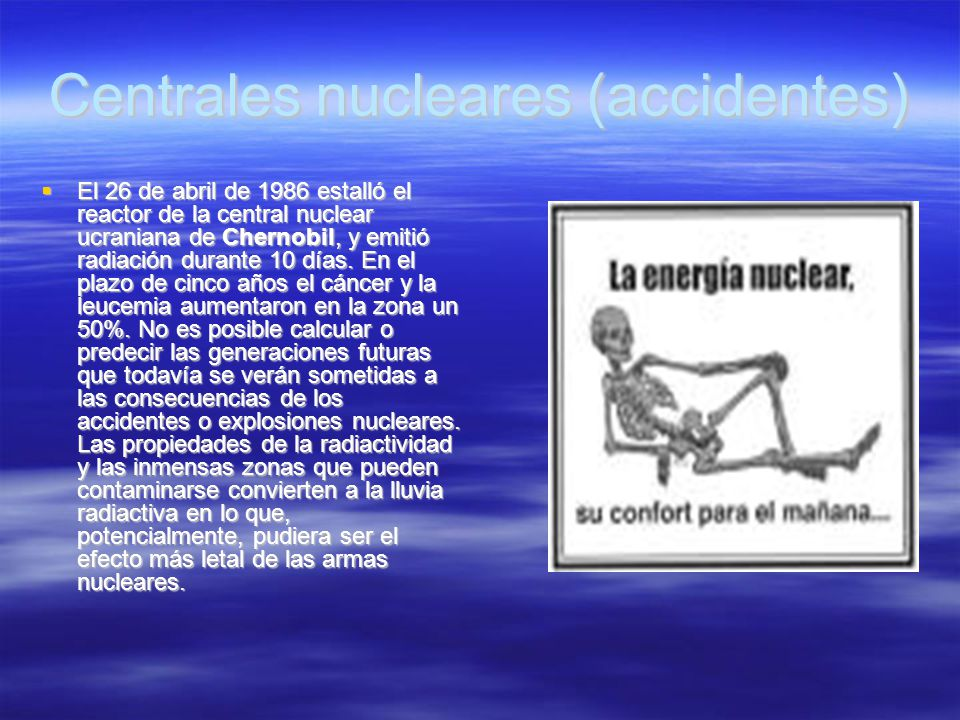 Centrales nucleares (accidentes)‏