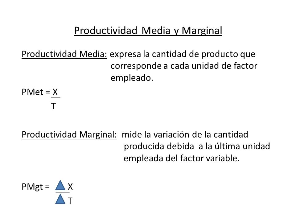 Productividad Media y Marginal