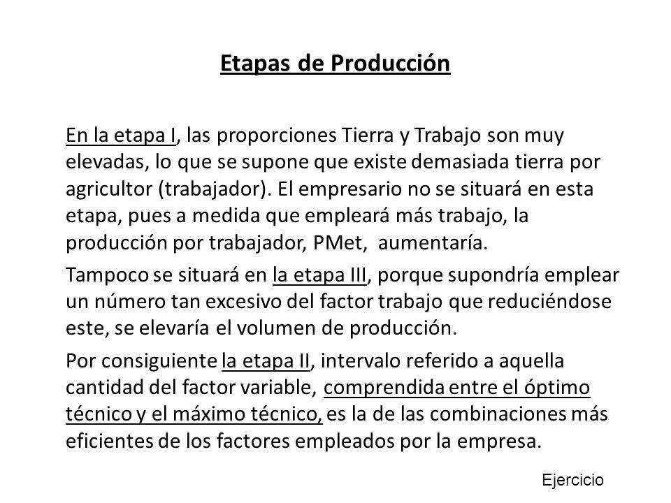 Etapas de Producción