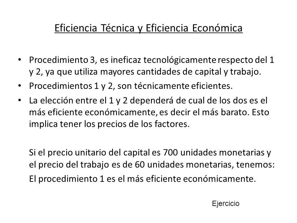Eficiencia Técnica y Eficiencia Económica