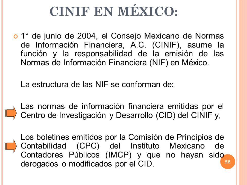 CINIF EN MÉXICO: