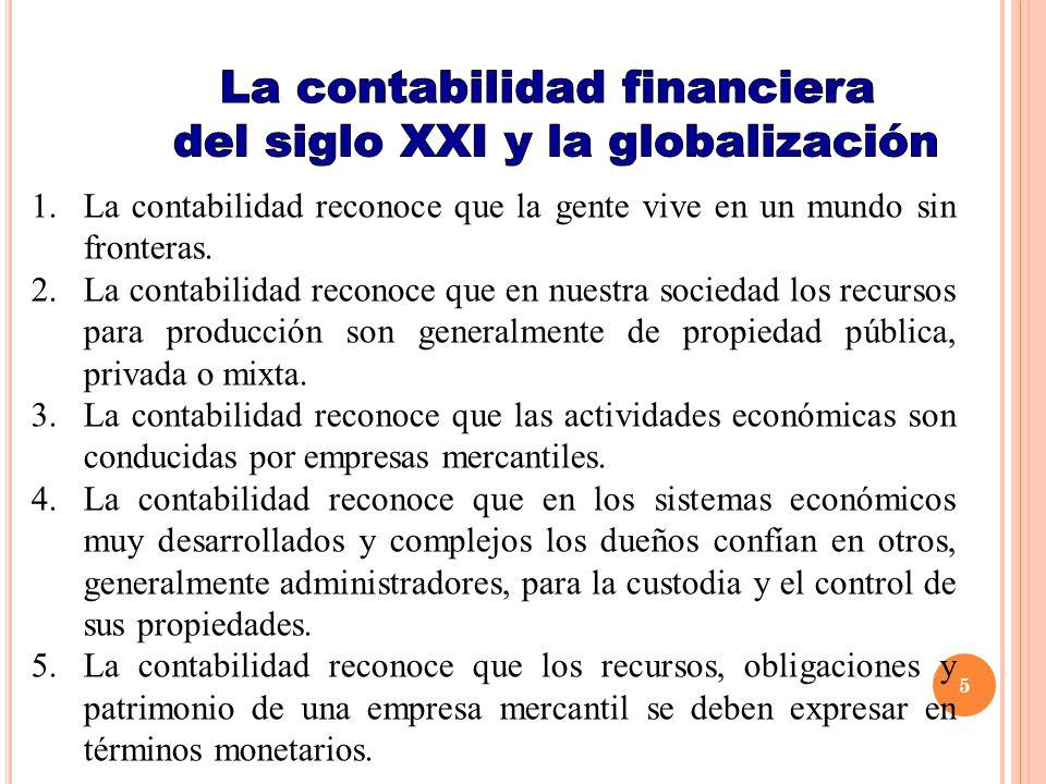 La contabilidad financiera del siglo XXI y la globalización
