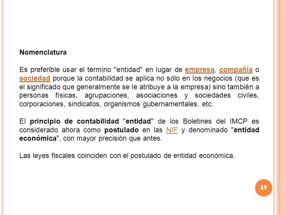 Las leyes fiscales coinciden con el postulado de entidad económica.