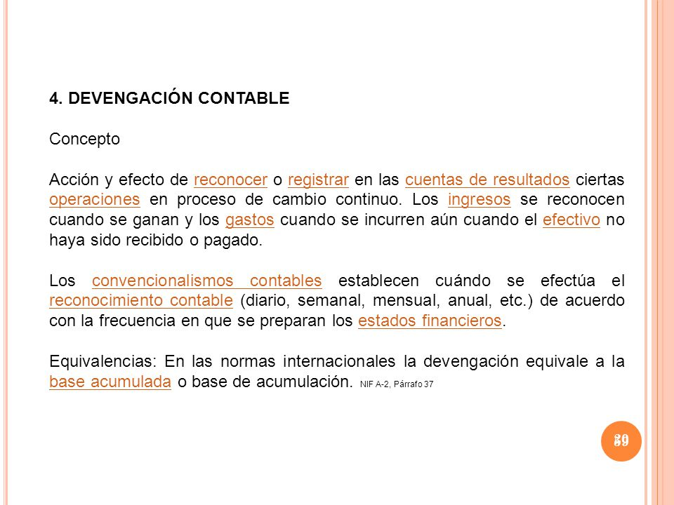 4. DEVENGACIÓN CONTABLE Concepto