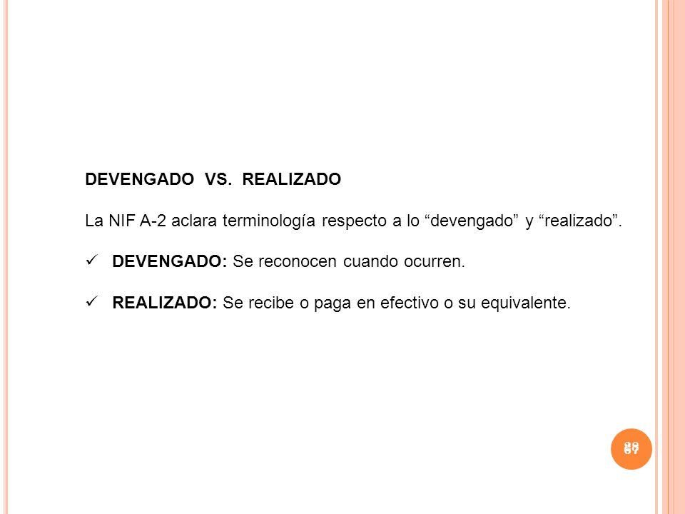 DEVENGADO VS. REALIZADO