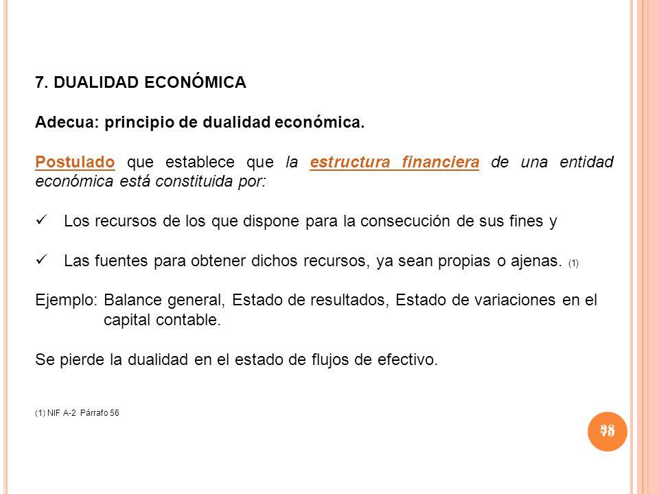 Adecua: principio de dualidad económica.