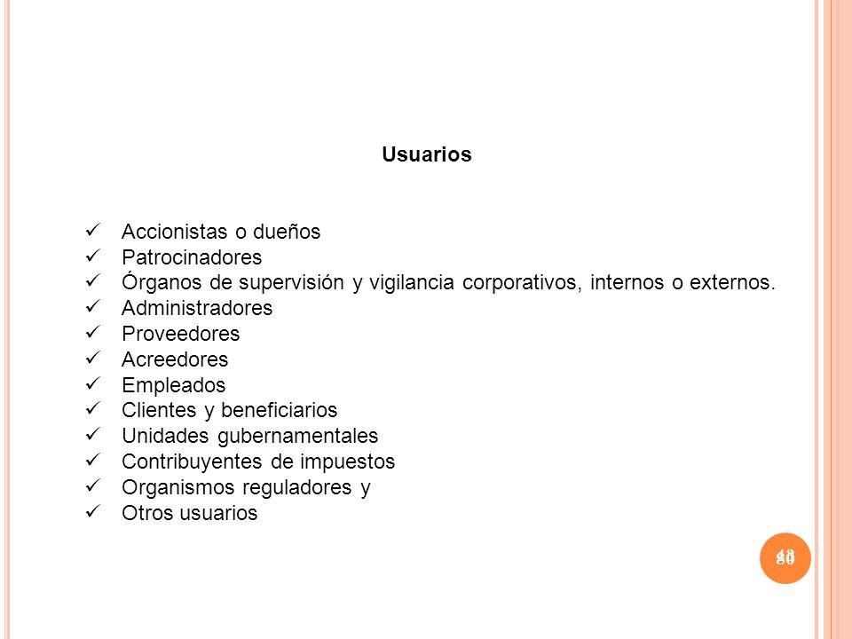Órganos de supervisión y vigilancia corporativos, internos o externos.