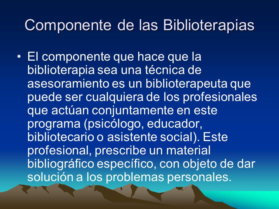 Componente de las Biblioterapias