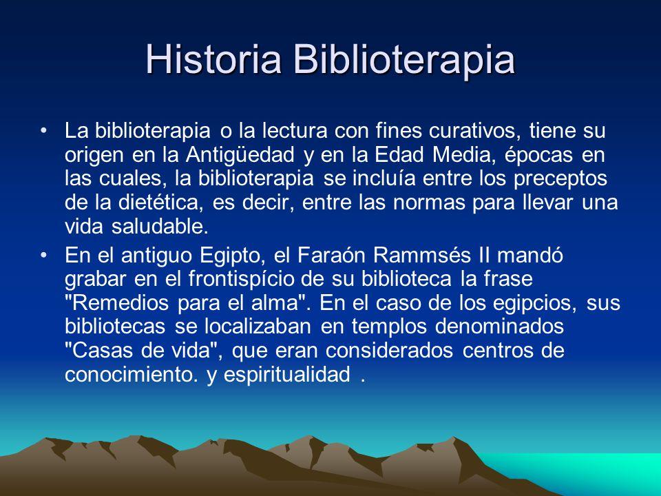 Historia Biblioterapia