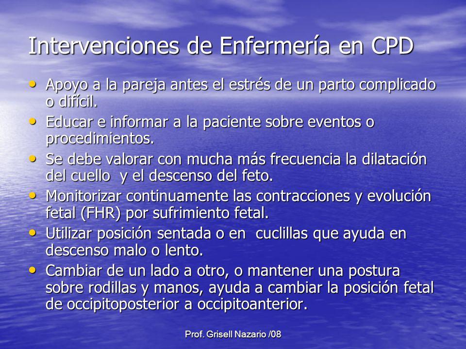Intervenciones de Enfermería en CPD