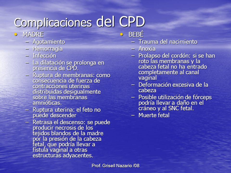 Complicaciones del CPD