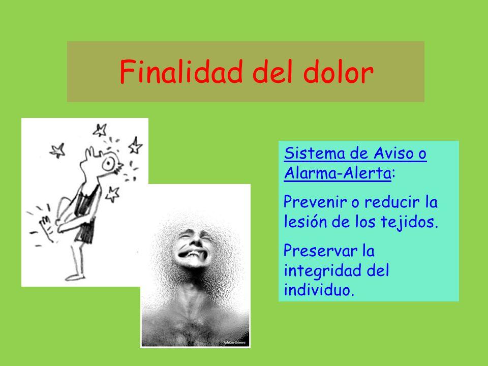Dolor Dolor: experiencia emocional y sensorial displacentera asociada a daño, potencial o actual, de los tejidos, (Merskey, 1.986).