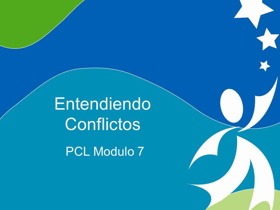 Objectivos Definir varias maneras de enfrentar conflictos