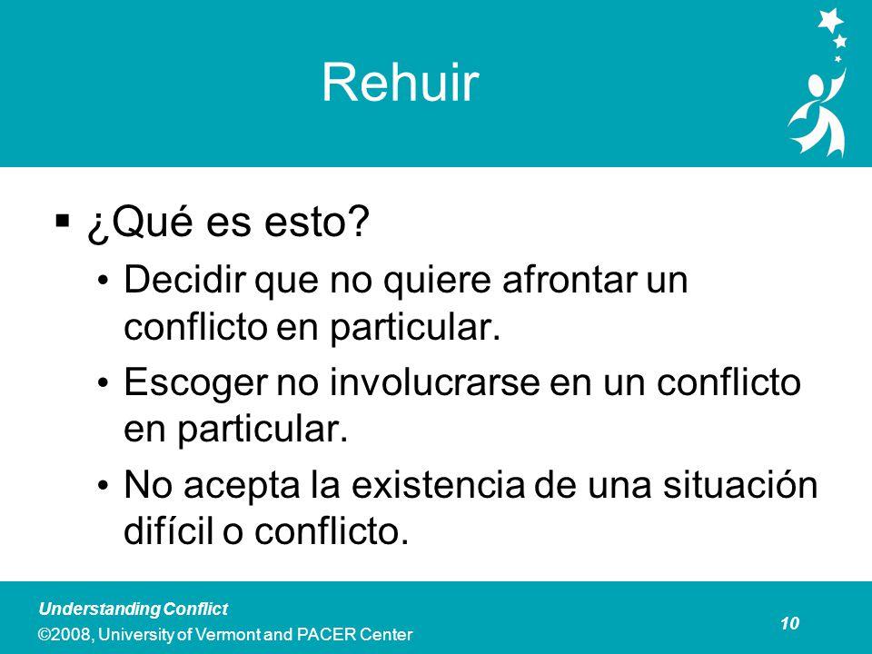 Rehuir Es aconsejable rehuir cuando Ud. está: