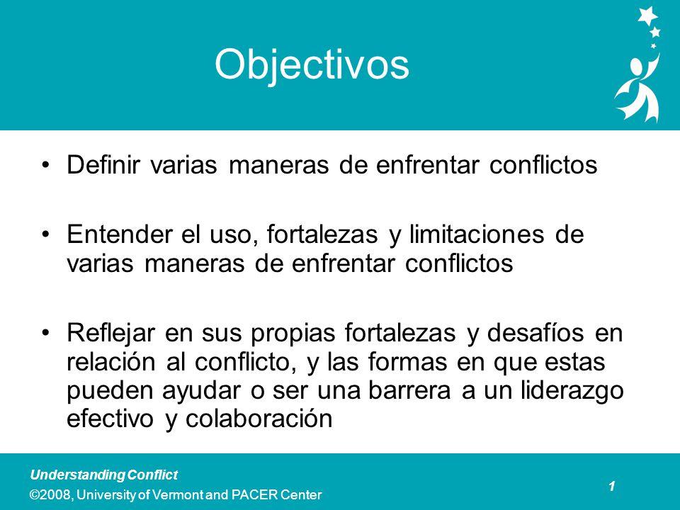 Preguntas Esenciales ¿Cuáles son algunas maneras comunes de enfrentar conflictos, y cuáles son las fortalezas y limitaciones en varias situaciones